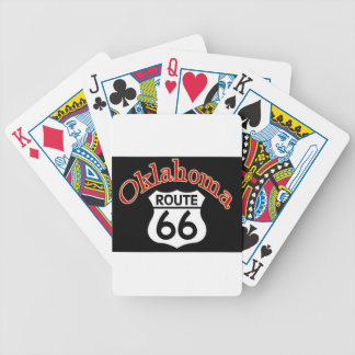 Oklahoma Route 66 Shield Bicycle Playing Cards