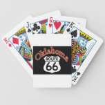 Oklahoma Route 66 Shield Bicycle Poker Cards