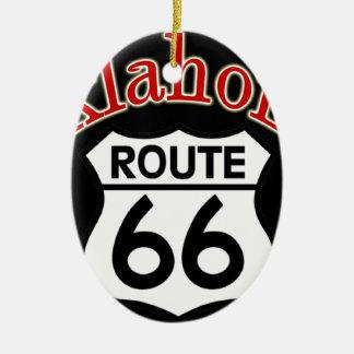 Oklahoma Route 66 Shield Ceramic Ornament