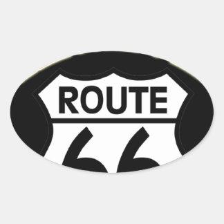 Oklahoma Route 66 Shield Oval Sticker