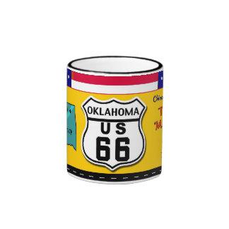 Oklahoma - ruta 66 taza de dos colores