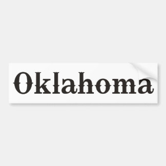Oklahoma Saddle and Boots Bumper Sticker