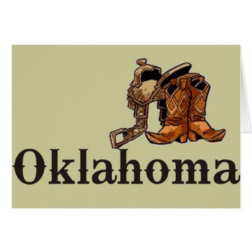 Oklahoma Saddle and Boots Greeting Card