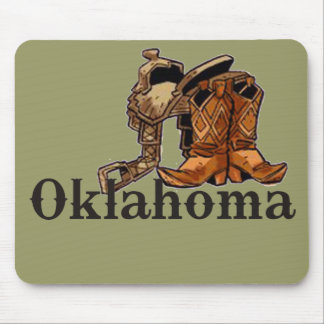 Oklahoma Saddle and Boots Mousepads