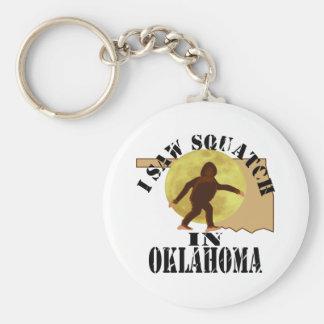 Oklahoma Sasquatch Bigfoot Spotter - I Saw Him Keychain