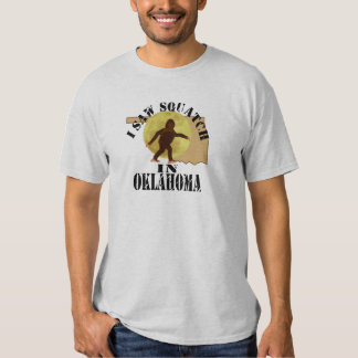 Oklahoma Sasquatch Bigfoot Spotter - I Saw Him T-Shirt