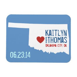 Oklahoma Save the Date - Customizable City Magnet
