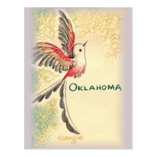 Oklahoma Scissortail Bird Postcard