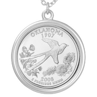 oklahoma silver plated necklace