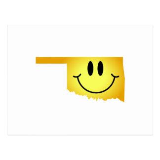 Oklahoma Smiley Face Postcard