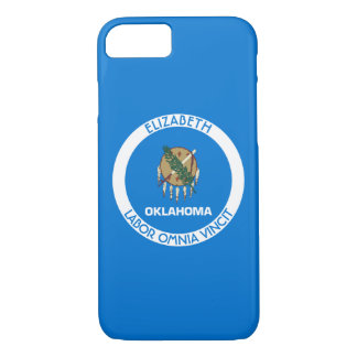 Oklahoma Sooner State Personalized Flag iPhone 7 Case