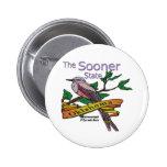 Oklahoma Sooner StateScissortail Flycatcher Pin