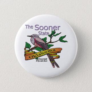 Oklahoma Sooner StateScissortail Flycatcher Pinback Button