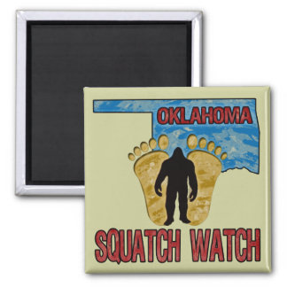 Oklahoma Squatch Watch 2 Inch Square Magnet
