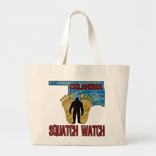 Oklahoma Squatch Watch Canvas Bags