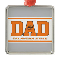 Oklahoma State Dad Metal Ornament