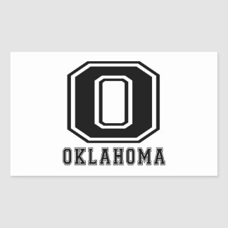 Oklahoma State Designs Rectangular Sticker