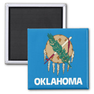 Oklahoma State Flag 2 Inch Square Magnet