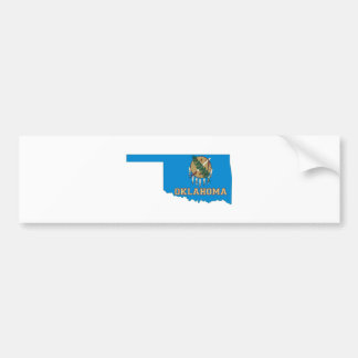 Oklahoma State Flag and Map Bumper Sticker