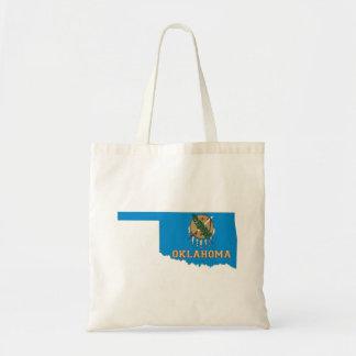 Oklahoma State Flag and Map Tote Bag