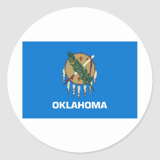 Oklahoma State Flag Classic Round Sticker