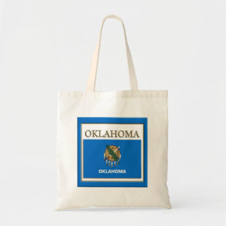 Oklahoma State Flag Design Budget Canvas Bag
