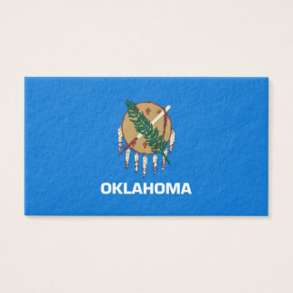 Oklahoma State Flag Design Business Card
