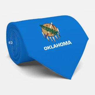 Oklahoma State Flag Design Neck Tie