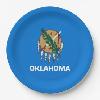 Oklahoma State Flag Design Paper Plate