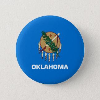 Oklahoma State Flag Design Pinback Button