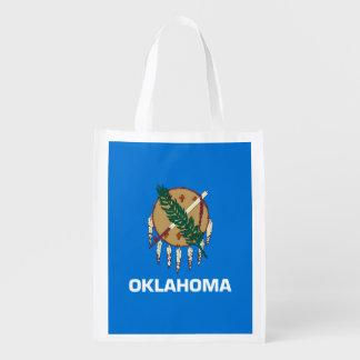 Oklahoma State Flag Design Reusable Grocery Bag