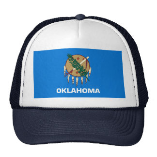 Oklahoma State Flag Design Trucker Hat