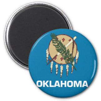 Oklahoma State Flag Emblem 2 Inch Round Magnet