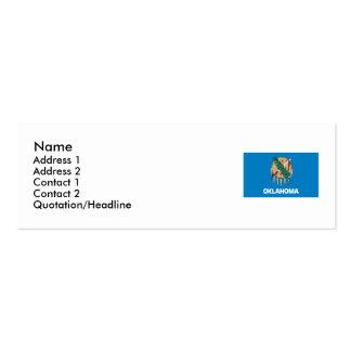 Oklahoma State Flag Mini Business Card