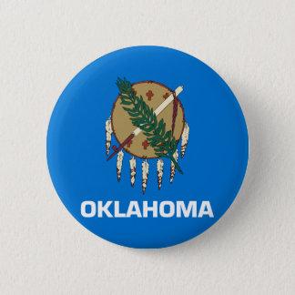 Oklahoma State Flag Pinback Button