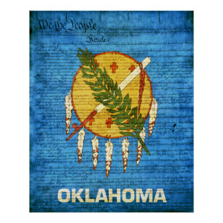 Oklahoma State Flag Poster
