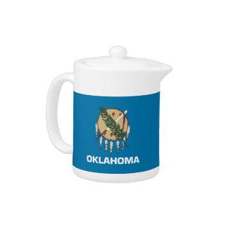 Oklahoma State Flag Teapot