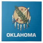 "Oklahoma State Flag Tile<br><div class=""desc"">Elegant Tile with Flag of Oklaoma State. United States of America. This product its customizable.</div>"