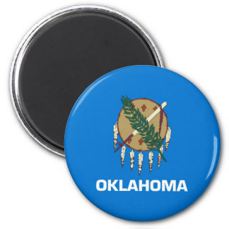 oklahoma state flag united america republic symbol 2 inch round magnet