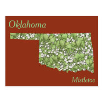 Oklahoma State Flower Collage Map Postcard