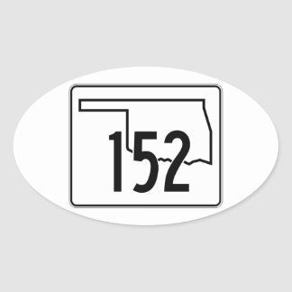 Oklahoma State Highway 152 Oval Sticker