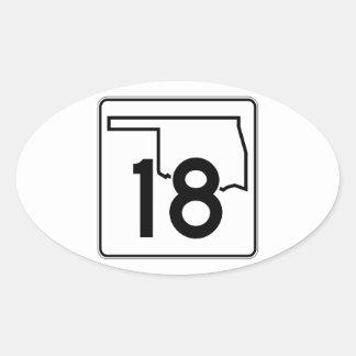 Oklahoma State Highway 18 Oval Sticker