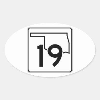 Oklahoma State Highway 19 Oval Sticker
