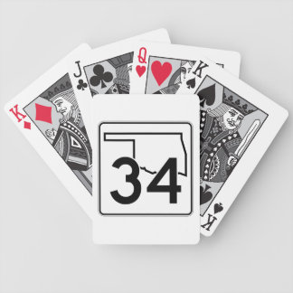 Oklahoma State Highway 34 Bicycle Playing Cards