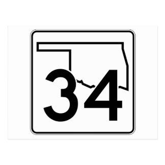 Oklahoma State Highway 34 Postcard