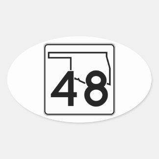 Oklahoma State Highway 48 Oval Sticker