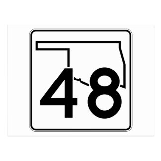 Oklahoma State Highway 48 Postcard