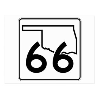 Oklahoma State Highway 66 Postcard