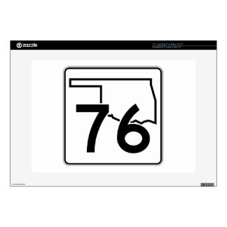 """Oklahoma State Highway 76 Decal For 15"""" Laptop"""