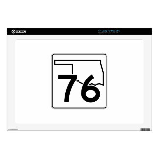 Oklahoma State Highway 76 Decals For Laptops